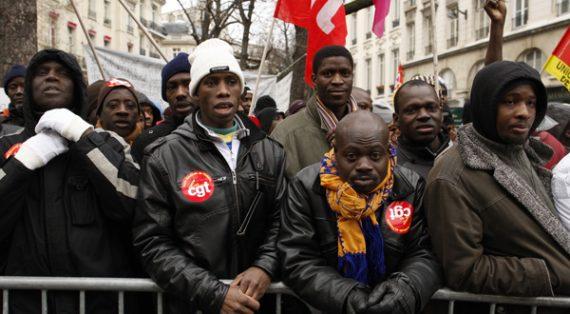 manifestation de migrants