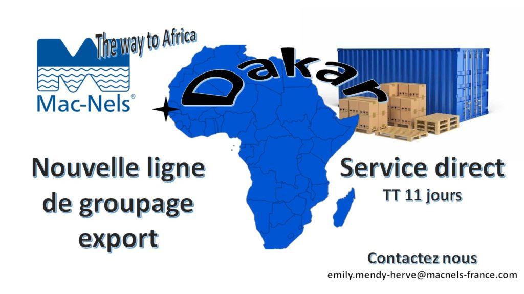 Groupage maritime Dakar